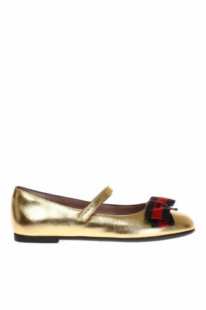 Ballet flats with bow od Gucci Kids